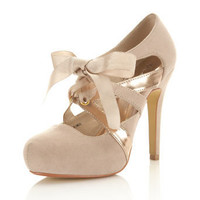 Sandi Nude Town Shoe - Shoes - Miss Selfridge