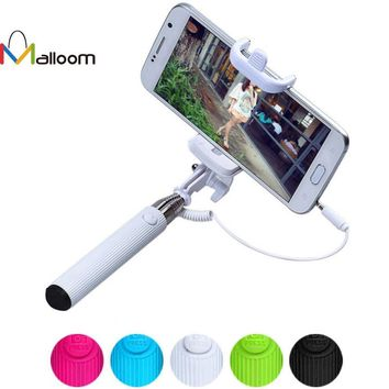 Universal Self Selfie Stick Monopod for iPhone 6 Plus Palo Selfie Remote For Samsung Android IOS Camera Tripod Wire Para Selfie