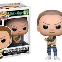 "Funko Pop Weaponized Morty - Rick And Morty 3.75"" Vinyl Figure IN STOCK"