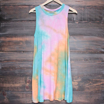 to dye for shirt tank dress - rainbow sorbet