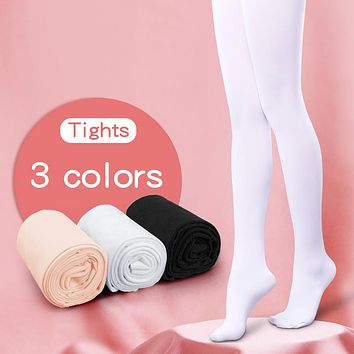 Children Girls Ballet Dance Tights Kids Adult Nylon Leggings Gymnastics Dance Ballet Pantyhose 80D 3 Pairs
