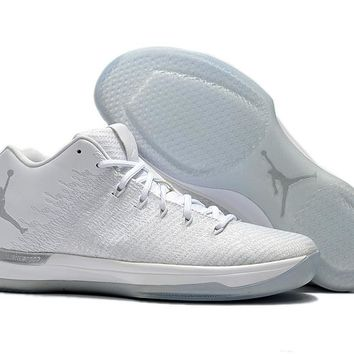 Air Jordan 31 Low White/Silver Basketball shoes 40-46