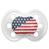 rustic flag baby pacifiers from Zazzle.com
