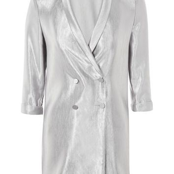 Satin Double Breasted Jacket - New In Fashion - New In