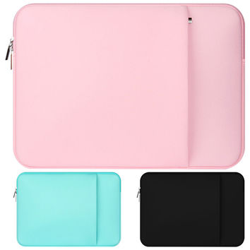 "Neoprene laptop notebook case sleeve bag Clutch Wallet Computer Pocket for 11""12""13""15""15.6"" Macbook Pro Air Retina Carry Bag"