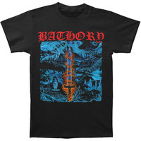 Bathory Men's  Blood On Ice T-shirt Black Rockabilia