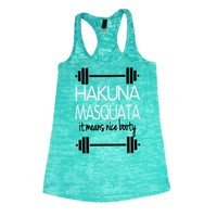 She Squats Clothing Hakuna Masquata Burnout Gym Tank Top