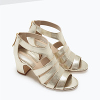 Wide heel fisherman sandals