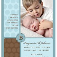 Take Note! Designs - BIRTH ANNOUNCEMENTS, Benjamin Eli Brothers, take note! | Take Note! Designs - TND-Q2-15517