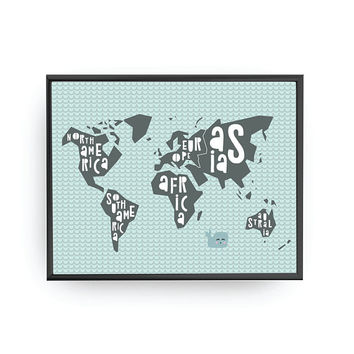 World Map Print, Nursery Decor, Map of Continents, Nursery Poster, Kids Decor, Kids Learning, Kids Room Decor, Educational Art, Playroom Art