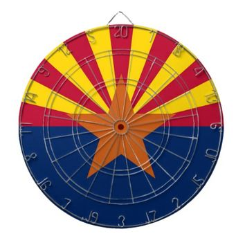 Dartboard with Flag of Arizona, USA