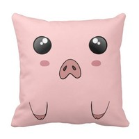 Cute Anime Pig Face Pillow