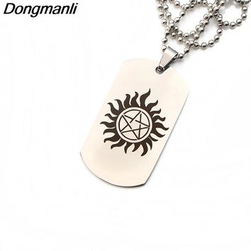 P2693 Dongmanli TV series Supernatural Pentagram sign Rune Amulet Pendant Necklace Stainless Steel Fashion Inspired Jewelry
