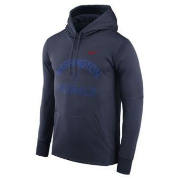 Washington Nationals Nike MLB Navy Ultra Pullover Hoodie