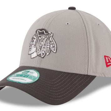 Chicago Blackhawks The League Gray 9Forty Adjustable Hat