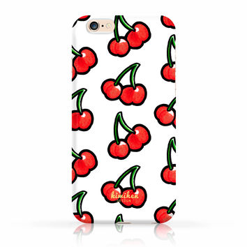 Cute Cherry Pattern iPhone Case