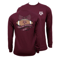 Southern Couture Texas A&M Aggies Vintage Football Long Sleeve T-Shirt