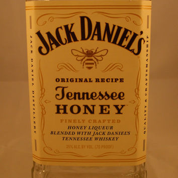 20 Ounce Pure Soy Candle in Reclaimed Jack Daniels Tennessee Honey Liquor Bottle - Your Choice of Scent