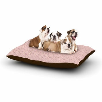 "Carolyn Greifeld ""Modern Shabby"" Pink Abstract Dog Bed"