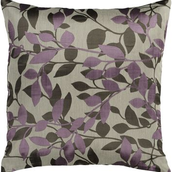 Wind Chime Throw Pillow Neutral, Purple