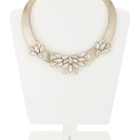 Crystal Detail Ribbed Torq Necklace | Clear | Accessorize