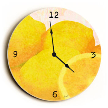 Orange Peels Unique Wall Clock by Artist Lisa Weedn