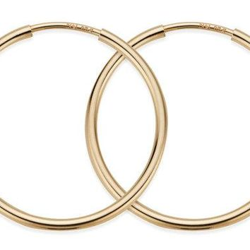 40 mm 14K Gold Filled Hoop Earrings