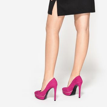 Fuschia Contrast Detail Pumps | CHARLES & KEITH