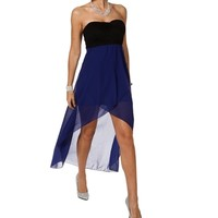 BlackRoyal Hi Lo Dress