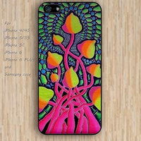 iPhone 5s 6 case cartoon mushrooms tree dream catcher colorful phone case iphone case,ipod case,samsung galaxy case available plastic rubber case waterproof B556