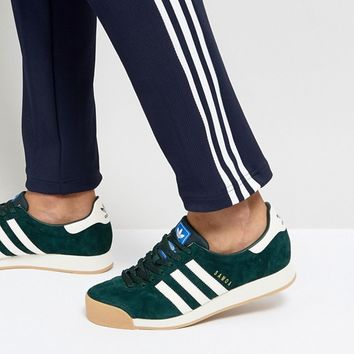 adidas Originals Samoa Vintage Sneakers In Green BY4131 at asos.com