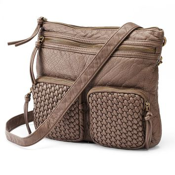 SONOMA life + style Basketweave Crossbody Bag