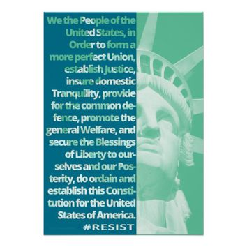 We The People Statue Of Liberty RESIST Art Poster