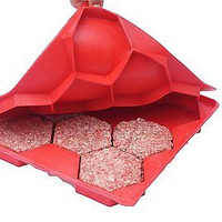 Shape Store Burger Master Red Chef Kitchen Cool BBQ Grill Press New Free Ship