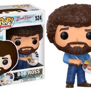 "DAMAGE BOX Funko Bob Ross Pop 3.75"" Vinyl Figure IN STOCK"