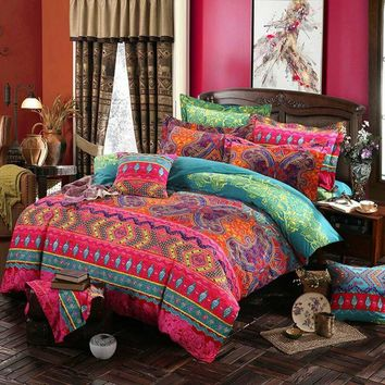 Prajna Ethnic Style Bohemian Bedding Mandala Duvet Cover Bedding Set Queen Size Double Bed Quilts Bedclothes 3d Bedroom Textil D