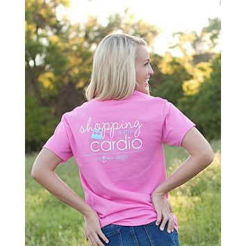 Southern Darlin Funny Shopping is My Cardio Exercise Anchor Bright Girlie T-Shirt