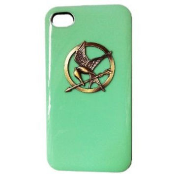 DIY Punk Style Mobile Phone Protective Skin for iphone 4 4s Skin with Hunger Games Green Case Cove AB 60