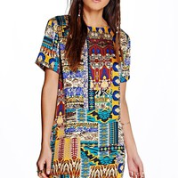 Morgan Printed Woven Shift Dress