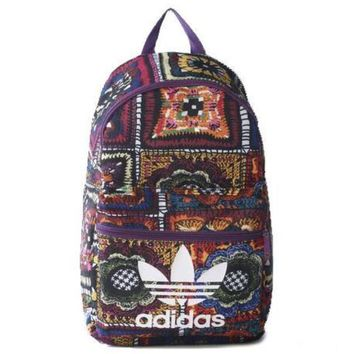 ADIDAS Flower Casual Sport Laptop Bag Shoulder School Bag Backpack H-A-MPSJBSC