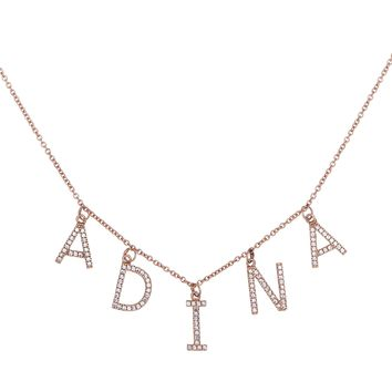 Block Name Necklace 14KT