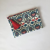 Tile Pattern CLUTCH/Clutch Bag/Tiles Print Clutch/Clutch Purse/HANDBAG/Ipad Case/Ethnic Clutch/Turkish TILE Design Clutch/Gift For Her