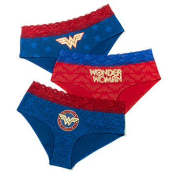 Wonder Woman Foil Print 3-Pack Panties