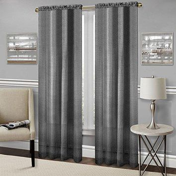 Ben&Jonah Collection Richmond Window Curtain Panel - 52x84 - Black