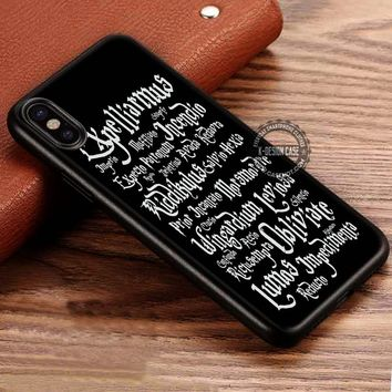 Magic Spells Harry Potter iPhone X 8 7 Plus 6s Cases Samsung Galaxy S8 Plus S7 edge NOTE 8 Covers #iphoneX #SamsungS8
