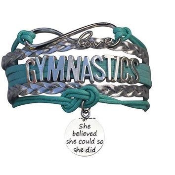Girls Gymnastics She Could Infinity Bracelet- 13 Colors