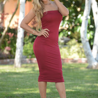 Carly Dress - Burgundy