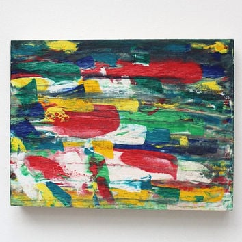 Spring Painting, Original acrylic painting, Abstract painting on wood panel, Artist Anaïs K, Anais Art Shoppe, Wall decoration, Home decor