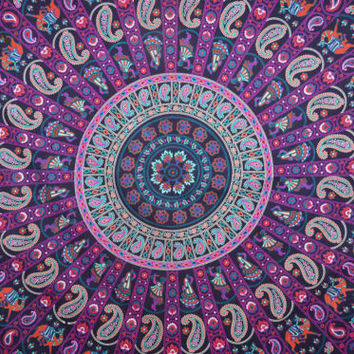 Queen Size Magical Thinking Tapestry Bohemain Mandala Hippie Beach Throw Bedding