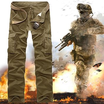 New 2015 High Quality Fatigue Tactical Soldier Military Army Combat Cargo Pants Trousers Multi Pocket Casual Pantalon Homme